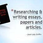 Preparing to Write - Research & Organization