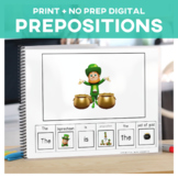 Prepositions: Adapted Book with Leprechaun