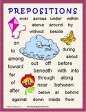 Prepositions: Lessons, Worksheets, Task Cards, Practice, Test