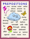 Prepositions: Lessons, Worksheets, Task Cards, Practice, Test