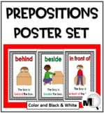 Prepositions / Positional Words Poster Set