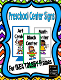 Preschool Center Signs for use with Ikea TOLSBY frames