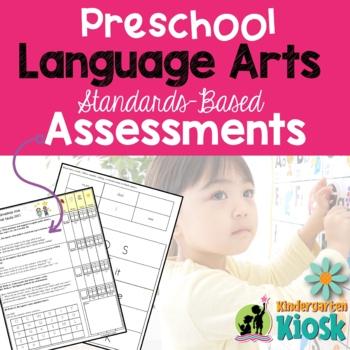 Preschool Common Core Language Arts Assessment Pack: Prepa