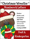 Preschool & Kindergarten Christmas Wreaths Numbers and Let