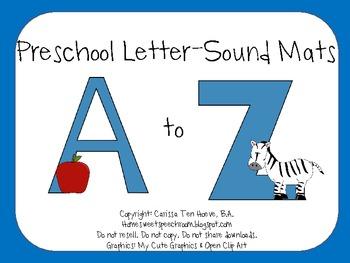 Preschool Letter-Sound Mats: Letter-Sound Awareness