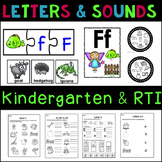 Preschool Letters and Beginning Sounds Bundle