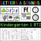 Preschool Letters and Beginning Sounds Bundle