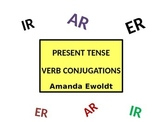 Present Tense Verb Conjugation Presentations with Irregulars