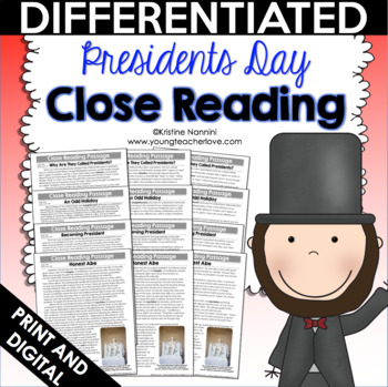 Presidents Day Close Reading Passages, Text-Dependent Questions & More