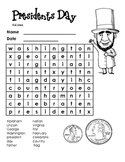 Presidents Day- Fun Word Search
