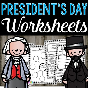 President's Day Math and Literacy Printables Great for Centers or Early Finisher