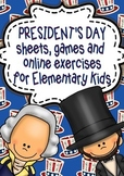 President's Day Unit Study/Sheets, Online Games and Activi