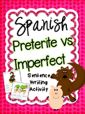 Preterite vs. Imperfect Spanish Sentence Writing Station A