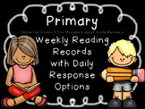 Editable Primary Weekly Reading Records with Daily Compreh