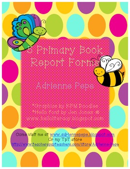 Primary Book Report Forms