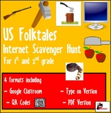 Internet Scavenger Hunt - Primary Grades - American Folktales