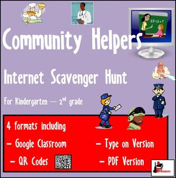 Internet Scavenger Hunt - Primary Grades - Community Helpers