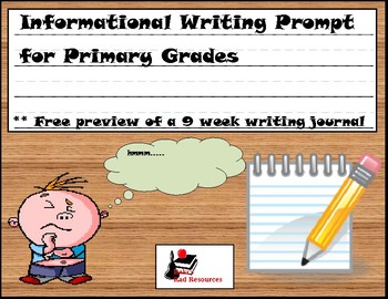 Free Informational Writing Prompt for Primary Students