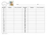 Prime Composite Factors Table