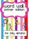 Primer Word Wall