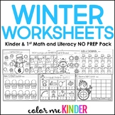 Winter Just Print, No Prep Math and Language Arts Pack