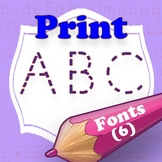 Print Style Family Fonts