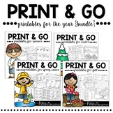 Print and Go! {Printables for the YEAR bundle}