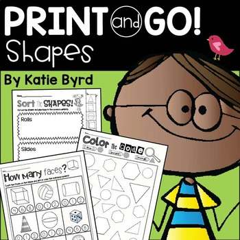 Print and Go! Shapes and Geometry (NO PREP)