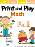 Print and Play Fall Math Centers