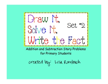Printable Addition & Subtraction Story Problems Set 2 Prim