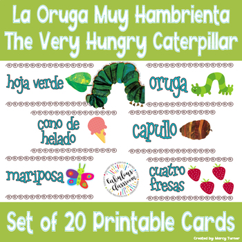 Printable Cards for La oruga muy hambrienta (The Very Hung