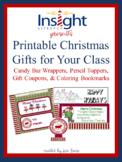 Printable Christmas Gifts for Your Class