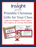Printable Christmas Gifts for Your Class