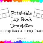 Printable Lap Book Templates 3 Flap Book & 4 Flap Book