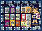Printable Phonics Mini-Books - Discounted Bundle of Fiftee