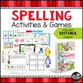 Printable Spelling Activities and Games