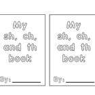 Printable sh, ch, and th booklet