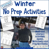 Winter No Prep Printables