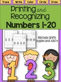 Printing and Recognizing Numbers 1-20