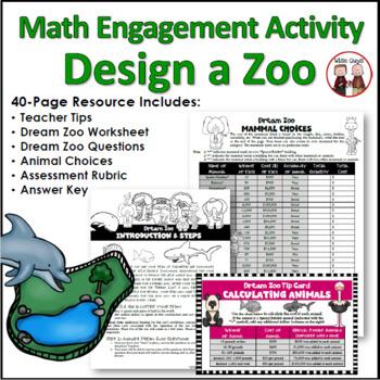 Problem Solving Design Zoo Math Challenge Activity