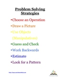Problem Solving Strategies - Math word & story problems Po