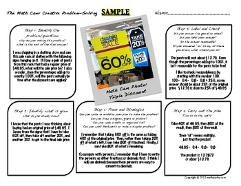 """Problem-Solving Using Digital Photography: """"The Math Cam"""""""