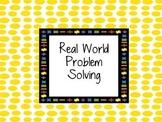 Problem Solving Word Problems Card Set Common Core Math