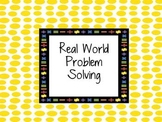 Problem Solving Word Problems Card Set Common Core Math