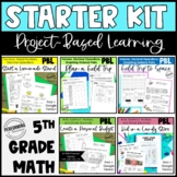 Project Based Learning Pack 5th Grade - Six Math Activities