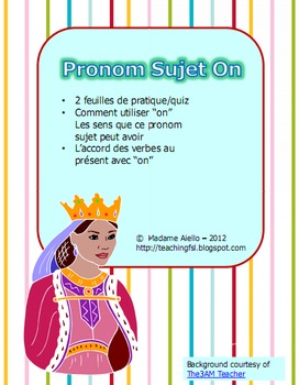 Pronom Sujet On Practice and Quiz