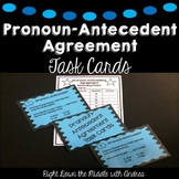 Pronoun-Antecedent Agreement Task Cards {Common Core Aligned}