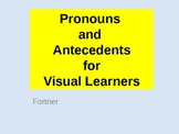 Pronouns and Antecedents for Visual Learners