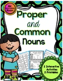 Proper and Common Noun Sorting Activity with Worksheets