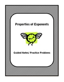 Algebra Guided Notes: Properties of Exponents